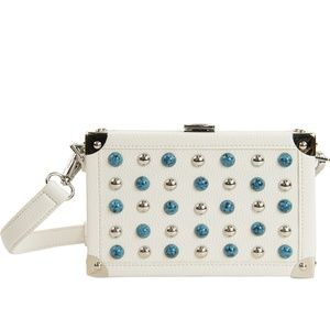 NWT Sam Edelman hard metal wrapped purse/clutch